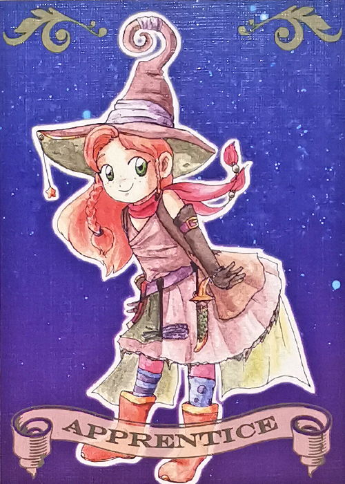 Witch coven Artist Trading card Apprentice illustrated by Max Improving