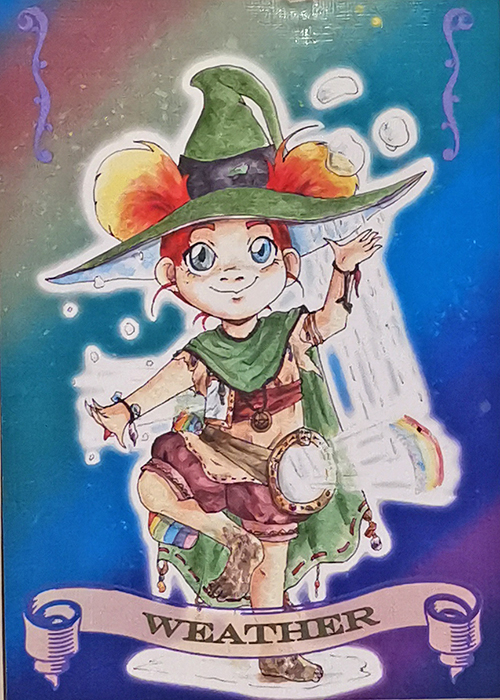 Witch coven Artist Trading card Weather illustrated by Max Improving