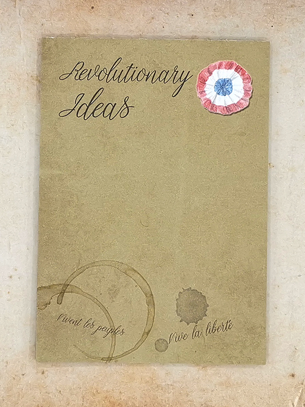 A6 sized notepad with 50 sheets with a revolutionary Les Miserables theme