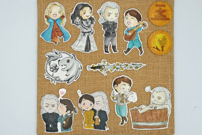 Handcut single sticker of Ciri Yennefer Geralt Jaskier Geraskier White Wolf bathtub toss a coin to your witcher