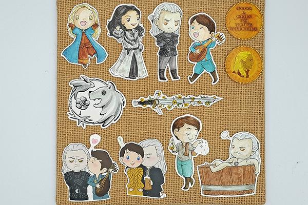 Handcut single sticker of Ciri Yennefer Geralt Jaskier Geraskier White Wolf bathtub toss a coin to your witcher