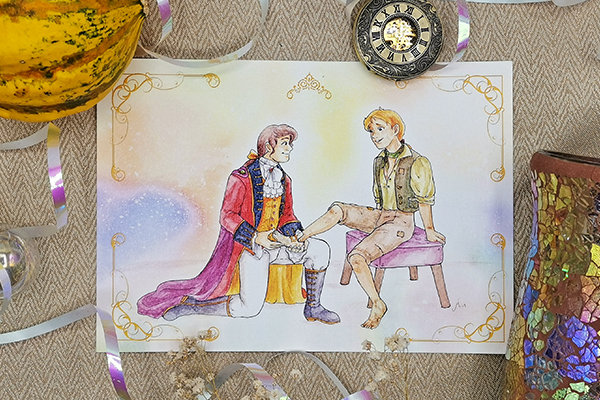 Cinderella boys love gay LGBT LGBTQI Fairy Tales interpretation illustrated by Max Improving