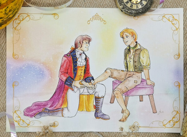 Details of Cinderella boys love gay LGBT LGBTQI Fairy Tales interpretation illustrated by Max Improving