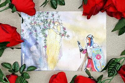 Sleeping Beauty girls love lesbian LGBT LGBTQI Fairy Tales interpretation illustrated by Max Improving