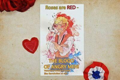 Les Misérables Enjoras Valentine Card illustrated ba Max Improving